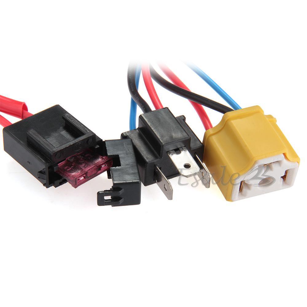 h4 bulb wiring h4/9003 ceramic fused socket relay wiring harness ... 9003 h4 bulb wiring #7